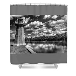 Fabyan Lighthouse On The Fox River Shower Curtain