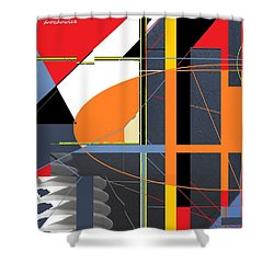Shower Curtain featuring the digital art Facade by Andrew Drozdowicz