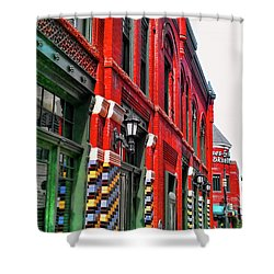 Facade Of Color Shower Curtain