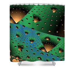 Facades And Fenestration Shower Curtain by Ron Bissett