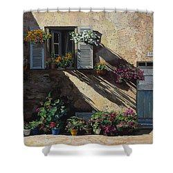 Facciata In Ombra Shower Curtain by Guido Borelli