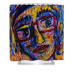 Face 11 Shower Curtain