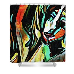 Face #64 Shower Curtain
