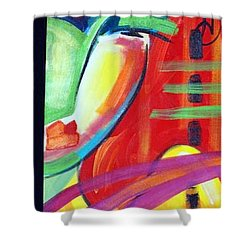 Face Shower Curtain by Heather Roddy