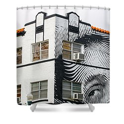 Face House, Calle Ocho Shower Curtain