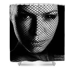 Face Lacemasked #4719 Shower Curtain