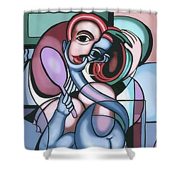 Face Lift Shower Curtain by Anthony Falbo