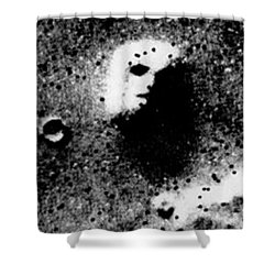 Face On Mars Shower Curtain by Paul Van Scott