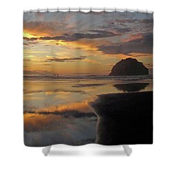Face Rock Beauty Shower Curtain