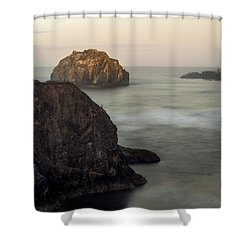 Face Rock Sunrise Shower Curtain