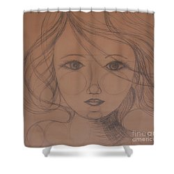 Face Study Shower Curtain