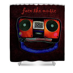 Face The Music Shower Curtain