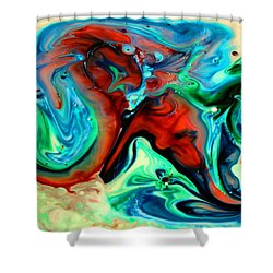 Shower Curtain featuring the painting Face To Face by Joyce Dickens