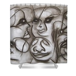 Faces And Places Shower Curtain