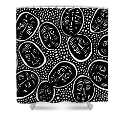 Faces In Stone Shower Curtain by Sarah Loft