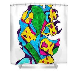 Faces Of Definism Shower Curtain