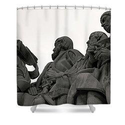 Faces Of The Monument Shower Curtain by Lorraine Devon Wilke