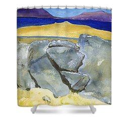 Faces Of The Rocks Shower Curtain