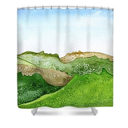 Facescape 1 Shower Curtain