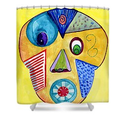 Facial Abstract Shower Curtain