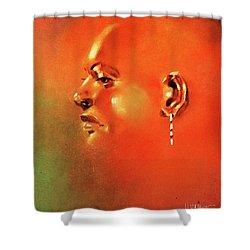Facial Vignette In Profile Shower Curtain