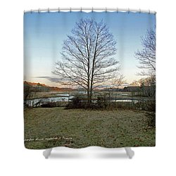 Facing Brave Boat Harbor Shower Curtain