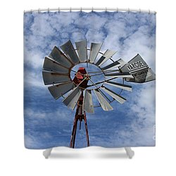 Shower Curtain featuring the photograph Facing Into The Breeze by Stephen Mitchell