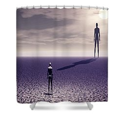 Facing The Future Shower Curtain