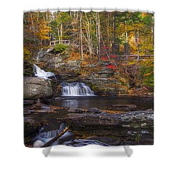 Shower Curtain featuring the photograph Factory Falls by Mark Papke