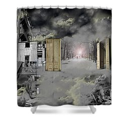 Shower Curtain featuring the photograph Factoryscape by Christopher Woods