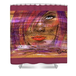Fadding Away Shower Curtain by P J Lewis