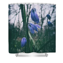 Fade Into The Blue Shower Curtain by Karen Stahlros