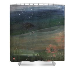 Shower Curtain featuring the painting Faded Days Gone By by Robin Maria Pedrero