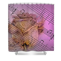 Faded Music Shower Curtain
