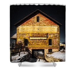 Faded Past-textured Shower Curtain