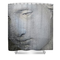 Faded Statue Shower Curtain