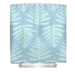 Faded Teal Fern Array Shower Curtain