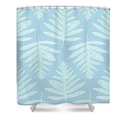 Faded Teal Fern Array Shower Curtain