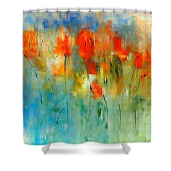 Faded Warm Autumn Wind Shower Curtain by Lisa Kaiser