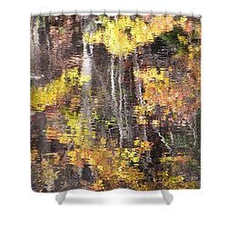 Fading Fall Water Shower Curtain