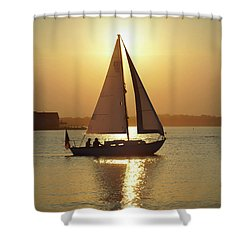 Fading Sun Shower Curtain