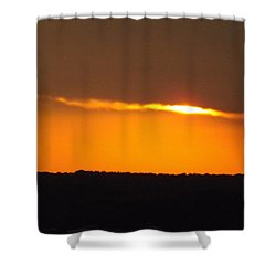 Fading Sunset  Shower Curtain by Don Koester