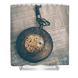 Shower Curtain featuring the photograph Fading Time by Edward Fielding