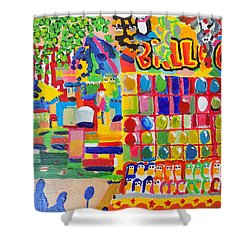 Fair Balloons Shower Curtain