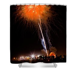Fireworks As Seen From The Ventura California Pier Shower Curtain