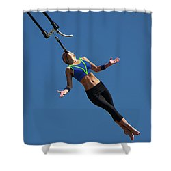 Fair Stunt Shower Curtain