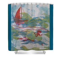 Fair Winds Calm Seas Shower Curtain