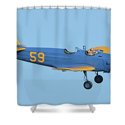 Fairchild Pt-19a N11cm Chino California April 29 2016 Shower Curtain by Brian Lockett