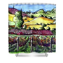 Fairfield Vineyards Shower Curtain
