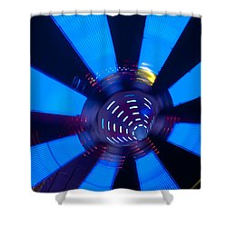 Fairground Abstract Vi Shower Curtain by Helen Northcott